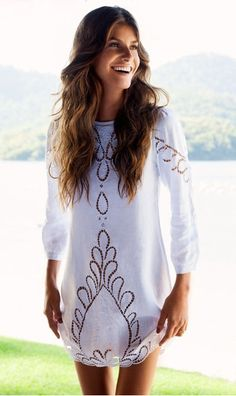 Perfection. #white #linen #dress