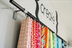 craft supply storage - use for clothing, towels, anything that would like great hanging - storage & decor in one