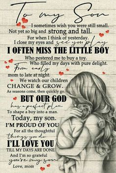 Son Quotes From Mom, Mother Son Quotes, My Children Quotes, Mommy Quotes, Mothers Day Quotes, Daughter Quotes, Quotes For Kids, Family Quotes, Cute Quotes