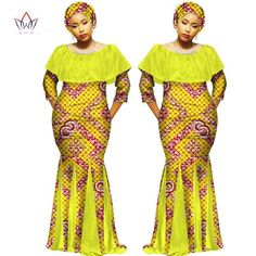 High-quality African Female Dashiki Ethnic Plus Size Traditional Dresses Print Free Headtie Dresses African Fashion Designers, Latest African Fashion Dresses, African Print Dresses, African Dress, Kente Styles, Ankara Gown Styles, Traditional African Clothing, Traditional Dresses, African Attire