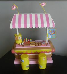 Vintage California Barbie Hot Dog Stand Play Set and Accessories 1987 | eBay