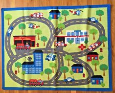 Toy Car Mat Carpet Kids Rug City Train Road Fun Play #Unbranded #KidsRugs Car Mats, Baby Birthday, Kids Room, Carpet, Train, Quilts, Play, Blanket, Rugs