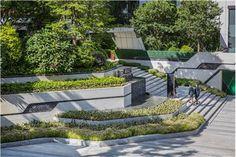 郑州正商善水上境_金盘网 Park Landscape, Landscape Architecture, Landscape Design, Ancient Egypt Art, Entry Stairs, Industrial Park, Parametric Design, Entrance Design, 3d Prints
