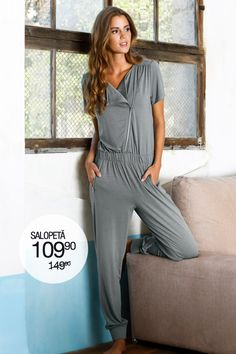 Overal, krátky rukáv S diagonálnym Take That, Jumpsuit, Product Launch, Outfit, Dresses, Style, Fashion, Overalls, Outfits