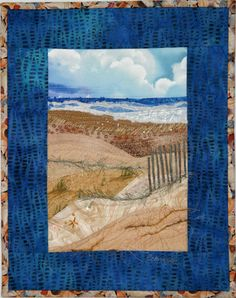 Karen Eckmeier - beach quilt embellished with beads and yarns