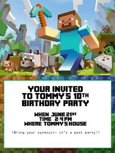 Minecraft happy birthday card printable free download card similar ideas minecraft fontminecraft birthday invitationsthe filmwisefo