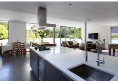 open plan kitchen extension in Belfast by McCann Moore Architects Open Plan Kitchen, Belfast, Table, Projects, House, Architects, Furniture, Kitchens, Home Decor
