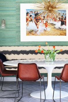Hollywood Hills Retreat - midcentury - Dining Room - Los Angeles - Caitlin & Caitlin Design Co.