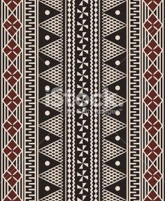 Fijian Patterns | Fijian tapa pattern Royalty Free Stock Vector Art Illustration