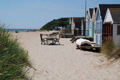 Best place to get away from it all by the sea in Dorset - Mudeford beach huts near Poole and Bournemouth. Bournemouth England, Bournemouth Beach, Mudeford Beach Huts, Jurassic Coast, Stay Overnight, New Forest, Little Houses, Campsite, London England