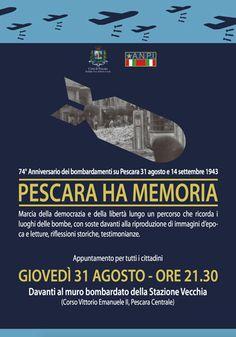 Pescara ha memoria: eventi in cordata con Pisa unita a Pescara dalle bombe del 31 agosto