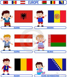Kids Flags Europe 4 Stock Photos, Images, & Pictures – (152 Images)