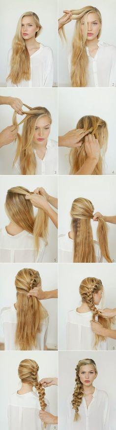13 Paso por Paso Cabello Tutoriales para un Estilo de Trenza de Sirena //  #cabello #estilo #para #Paso #sirena #trenza #Tutoriales