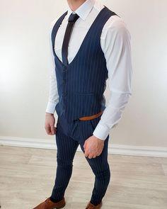 Luxusný pánsky pásikavý komplet elegantných nohavíc a vestičky v modrej farbe len za 48,90€!  Exkluzívna kolekcia pánskych kompletov, skladom viac ako 20 modelov!  Expresné dodanie do 24 hod! Bezplatné vrátenie do 30 dní!  Limitované množstvo - kúpiš jedine u nás! Pánske komplety nohavíc a vesty nájdeš tu: www.fashionformen.sk/Komplety-nohavic-a-vesty/ #fashionformen  #dnesnosim #dnesnakupujem #fashionformensk #menstreetstyle #menstyle #slovakboy #komplety Vest, Jackets, Dresses, Fashion, Down Jackets, Gowns, Moda, La Mode, Jacket