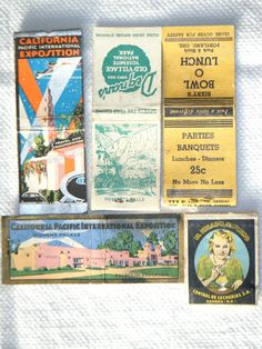 Vintage matchbook covers California Pacific International