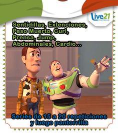 Vamos a entrenar con Buzz Lightyear #LIVE21 #GIMNASIO #FITNESS #TONALA #RetoLive21 #CROSSFIT #GymLife