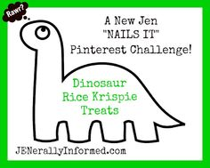 Rawr! Jen tries a brand new Pinterest challenge, Dinosaur Rice Krispie Treats. Come and check out whether she NAILS It or not!