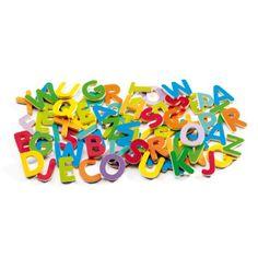 83 petites lettres magnétiques Djeco pour enfant de 4 ans à 6 ans - Oxybul éveil et jeux