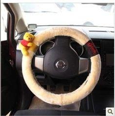 NEW-Winnie-the-Pooh-Car-Steering-Wheel-Cover-Plush