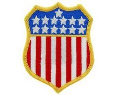 PARCHE FLAG USA SHIELD