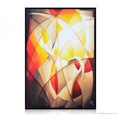 Peinture abstraite On fire