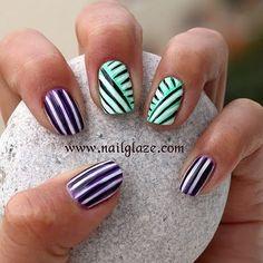 Stripes Manicure by Nailglaze