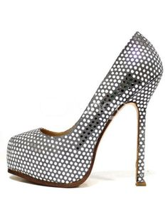 Silver Platform Leather Womens Hight Heel Shoes ($42.99)