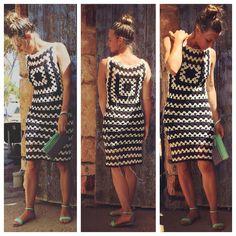63 Best Ideas For Crochet Dress Adult Granny Squares Crochet Baby Pants, Crochet Baby Bonnet, Crochet Coat, Crochet Cardigan, Crochet Granny, Crochet Clothes, Knit Dress, Retro Stil, Vintage Stil