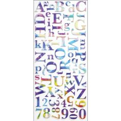 Sticko Alphabet Stickers Watercolor *** You can get more details by clicking on the image.Note:It is affiliate link to Amazon.