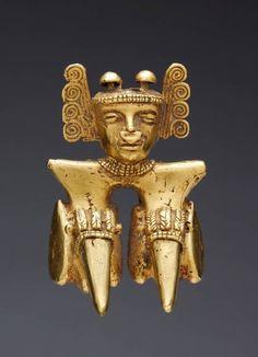 Panama | Pendant, International Style | Cast gold | 5th-8th century