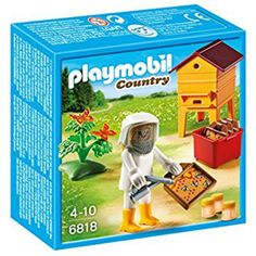 Love This! Playmobil Beekeeper set, Bee hive roof comes off. love all the little details in this toy. ideal gift for beekeeping family. #ad #bee #bees #playmobil
