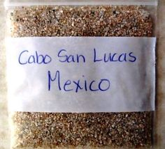 Cabo San Lucas Mexico Beach Sand Sample | eBay
