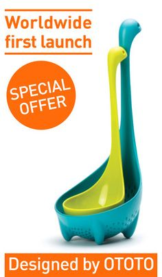Momma & baby Loch Ness Ladle & Strainer Spoon Set
