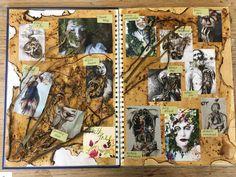 Artist tree A Level Sketchbook, Sketchbook Layout, Gcse Art Sketchbook, Natural Form Art, Mind Maps, Portfolio Ideas, Textile Artists, Art Tips, Art School