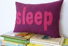 Sleep Pillow - Custom Color - You Choose Your Color via Etsy