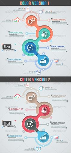 Flat Infographic Template (Two Versions) #design Download: http://graphicriver.net/item/-flat-infographic-template-two-versions/8050230?ref=ksioks