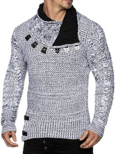 www.amazon.es gp aw d B01M0E4PN2 ref=cts_ap_3_vtp?ie=UTF8&pi=SL110&dpPl=1&dpID=61uad8A0BlL Gents Fashion, Trendy Fashion, Mens Fashion Sweaters, Men Sweater, Best Casual Shirts, Bodybuilding T Shirts, Winter Fur Coats, Casual Wear For Men, Smart Outfit