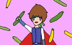 Hero And Zucchini / ゆず (勇者とズッキーニ) / #WUXGA #Boy #Food #Vegetable