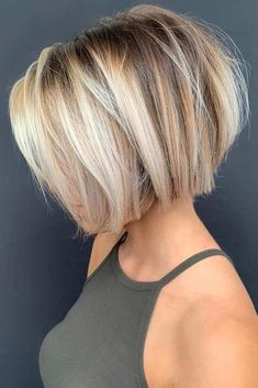 Inspiring Short Balayage Bob Haircuts for Women 2019 Inspirierende kurze Balayage Nice Short Haircuts, Bob Haircuts For Women, Hairstyles Haircuts, Layered Hairstyles, Choppy Bob Haircuts, Pixie Bob Haircut, Short Bob Cuts, Blonde Bob Hairstyles, Indian Hairstyles