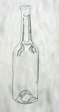 Leslie White, continous line bottle ;; interesting idea to work with this technique of drawing. continuous line