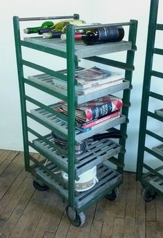 Roll this organizer wherever you need it, 5 metal industrial shelves  $125