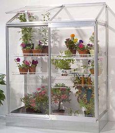 lean-to miniature greenhouse