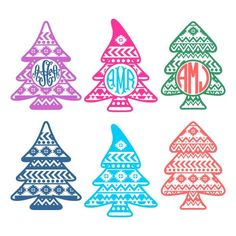 Aztec Print Christmas Tree Svg Cuttable Designs | Apex Embroidery Designs, Monogram Fonts & Alphabets