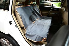 Pettom Waterproof Oxford Bench Seat Cover Car Seat Protector for Pets Machine Washable 52'L x 48.5'W (7046: Back Seat Cover with Flap) -- To view further for this item, visit the image link. (This is an affiliate link and I receive a commission for the sales)