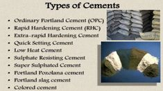 Details about some common types of cement in concreting work