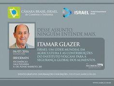 Palestra - Israel: Um líder mundial em agricultura e as contribuições do Instituto Volcani para a segurança global dos alimentos.
