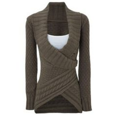Chic Turn-Down Neck Long Sleeve Asymmetrical Women's Sweater