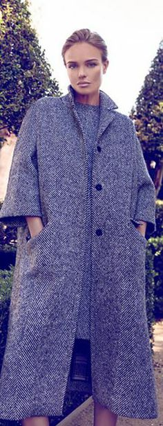 Who made  Kate Bosworth's gray dress and tweed coat?