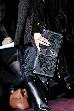 Gucci--- love an all black outfit- and the bag is gorgeous!