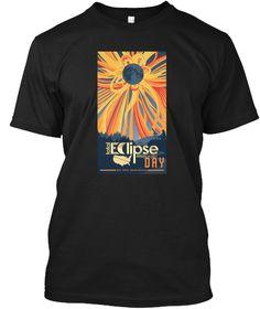 Total Solar Eclipse August 21 Tee Shirt Black T-Shirt Front
